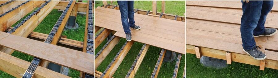 Deck a floor system montażu