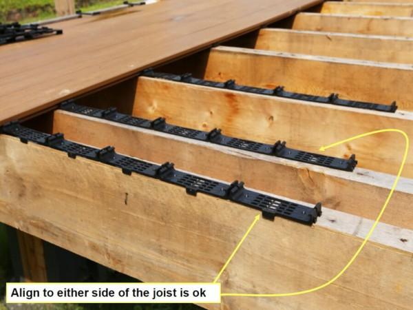 Deski kompozytowe Deck A Floor w trakcie montażu